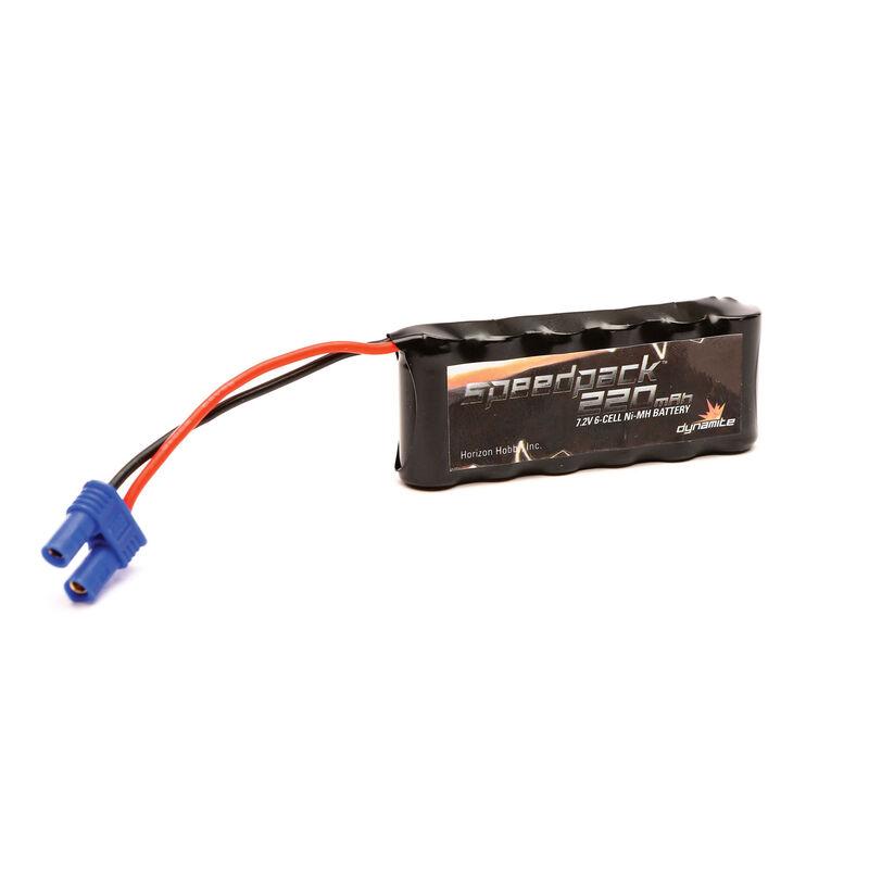 7.2V 220mAh 1 2AAA 6C Flat NiMH Battery: EC2