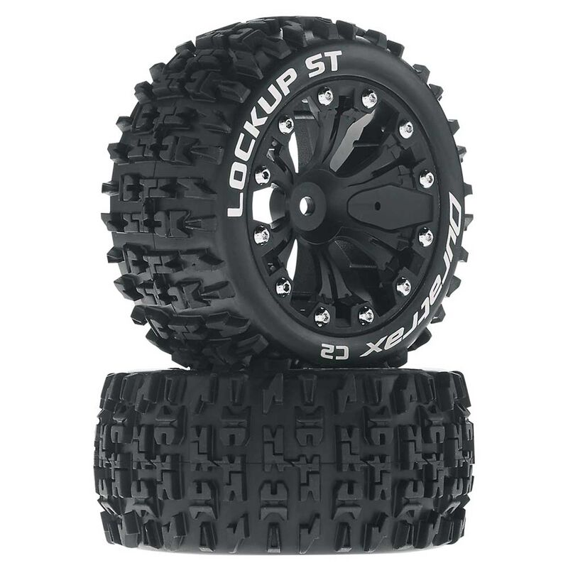 """Lockup ST 2.8"""" 2WD Mounted Rear Tires, Black(2)"""