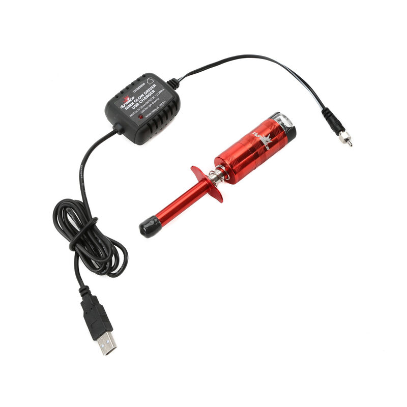 Metered NiMH Glow Driver with USB Charger