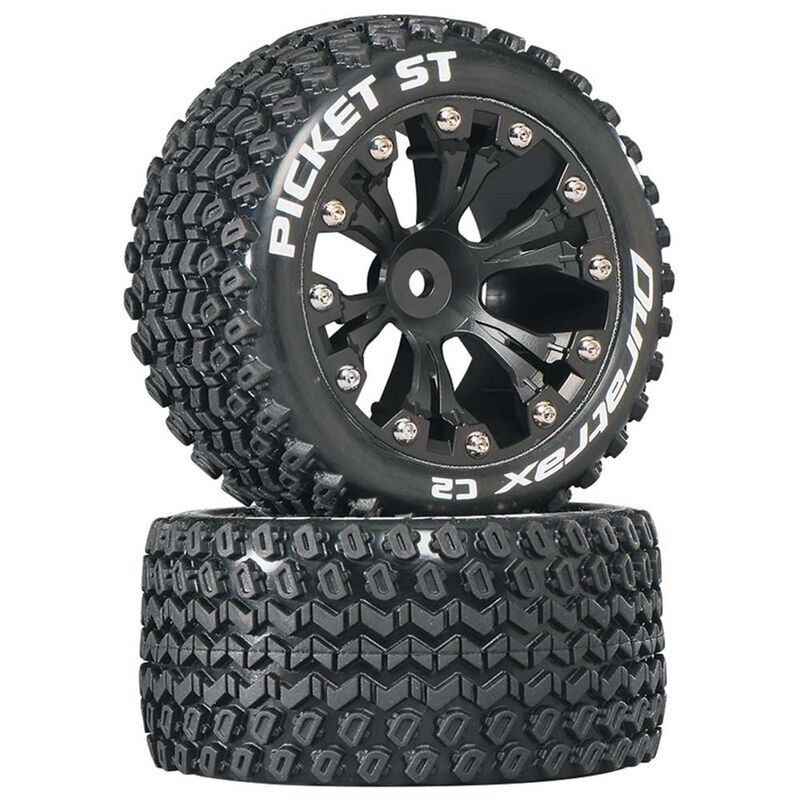 "Picket ST 2.8"" 2WD Mounted Rear C2 Tires, Black (2)"