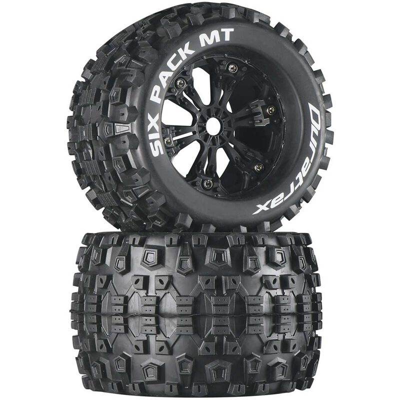 "Six-Pack MT 3.8"" Mounted Tires, Black (2)"