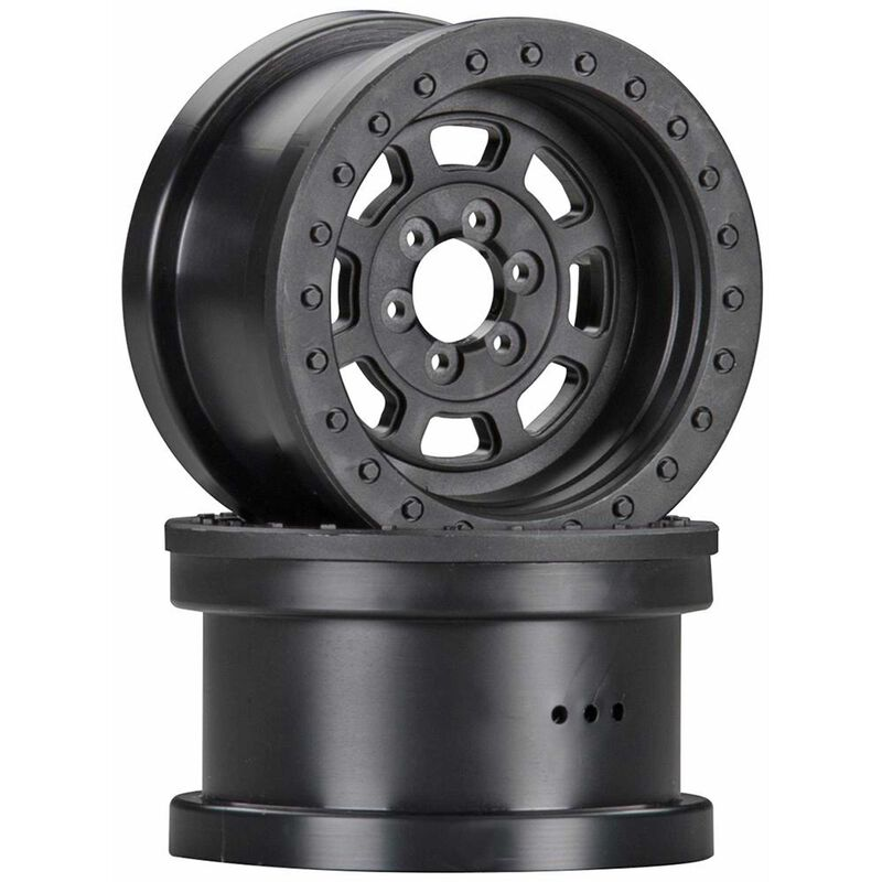 1/10 Trail Ready HD Series 2.2 Wheels, 12mm Hex, Black (2)