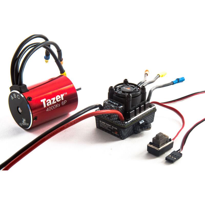 Tazer 1/10 6-Pole Waterproof ESC/Brushless Motor Combo V2, 4000Kv: 3.5mm Bullet, EC3