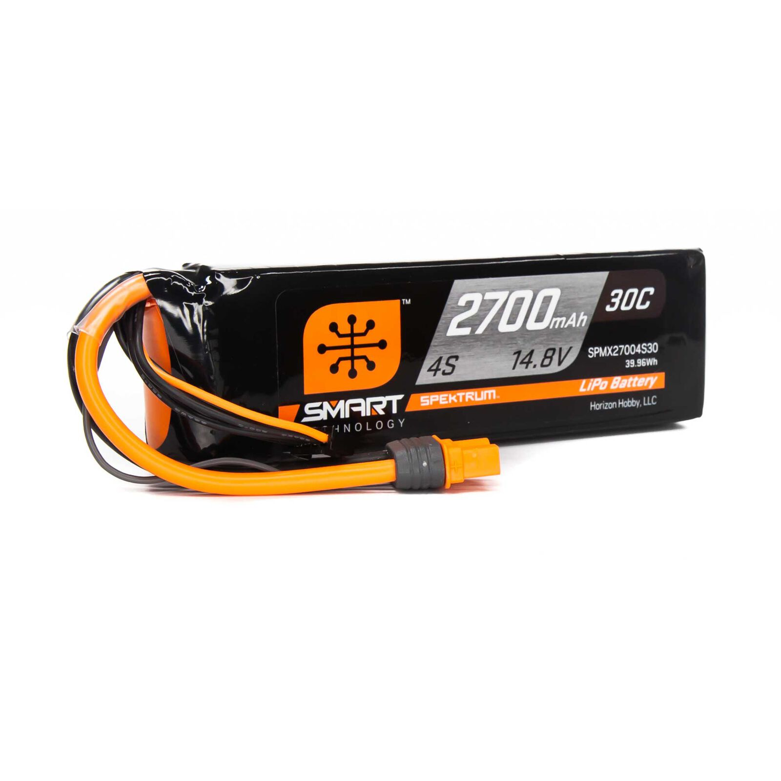 14.8V 2700mAh 4S 30C Smart LiPo Battery, IC3