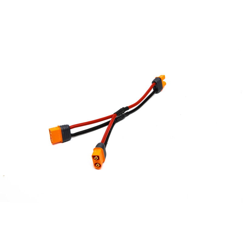 """Parallel Y-Harness: IC3 Battery with 6"""" Wires, 13 AWG"""