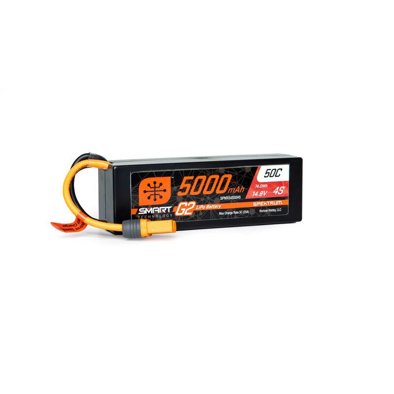 14.8V 5000mAh 4S 50C Smart LiPo G2 Hard Case: IC5