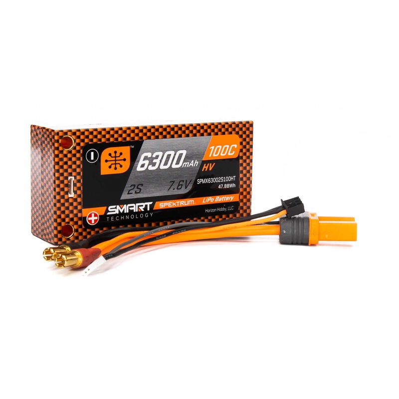 7.6V 6300mAh 2S 100C Smart Race Shorty Hardcase HV-LiPo Battery: Tubes, 5mm