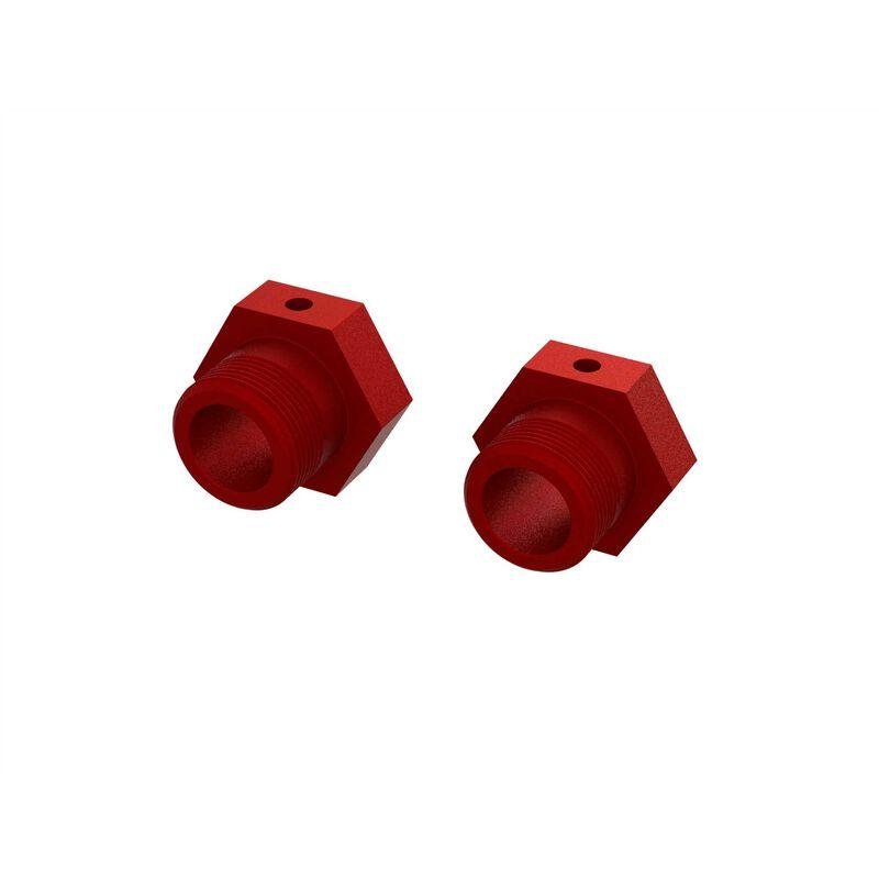 Aluminum Wheel Hex 24mm, Red (2)