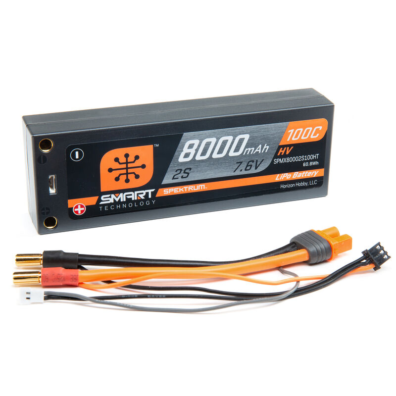7.6V 8000mAh 2S 100C Smart Race Hardcase HV-LiPo Battery: Tubes, 5mm