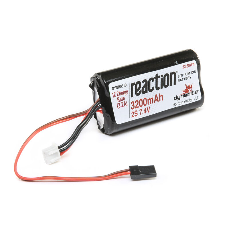 7.4V 3200mAh 2S Reaction Li-Ion Receiver Battery: Universal Receiver
