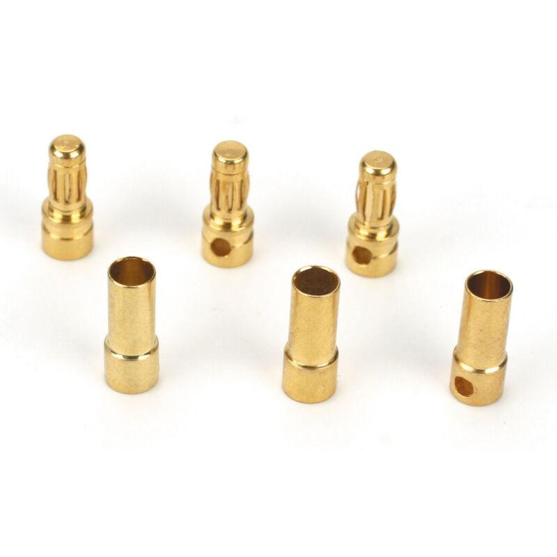 Connector: Gold Bullet Set, 3.5mm (3)