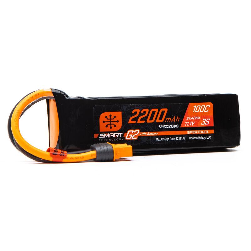 11.1V 2200mAh 3S 100C Smart G2 LiPo Battery: IC3