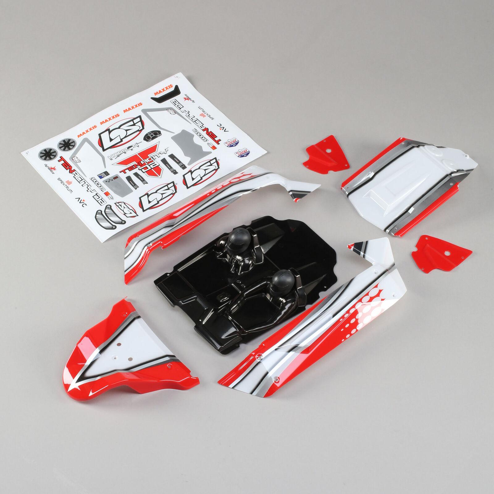 1/10 Painted Body Set, Red: Tenacity DB