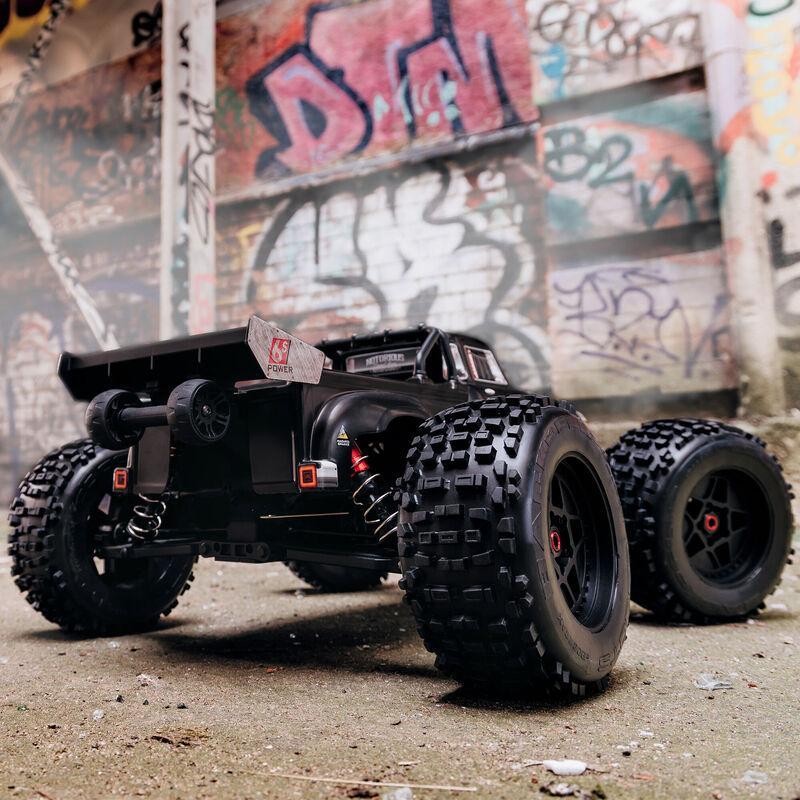 1/8 NOTORIOUS 6S V5 4WD BLX Stunt Truck with Spektrum Firma RTR, Black