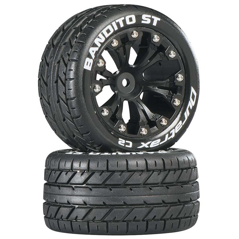 "Bandito ST 2.8"" 2WD Mounted Rear C2 Tires, Black (2)"