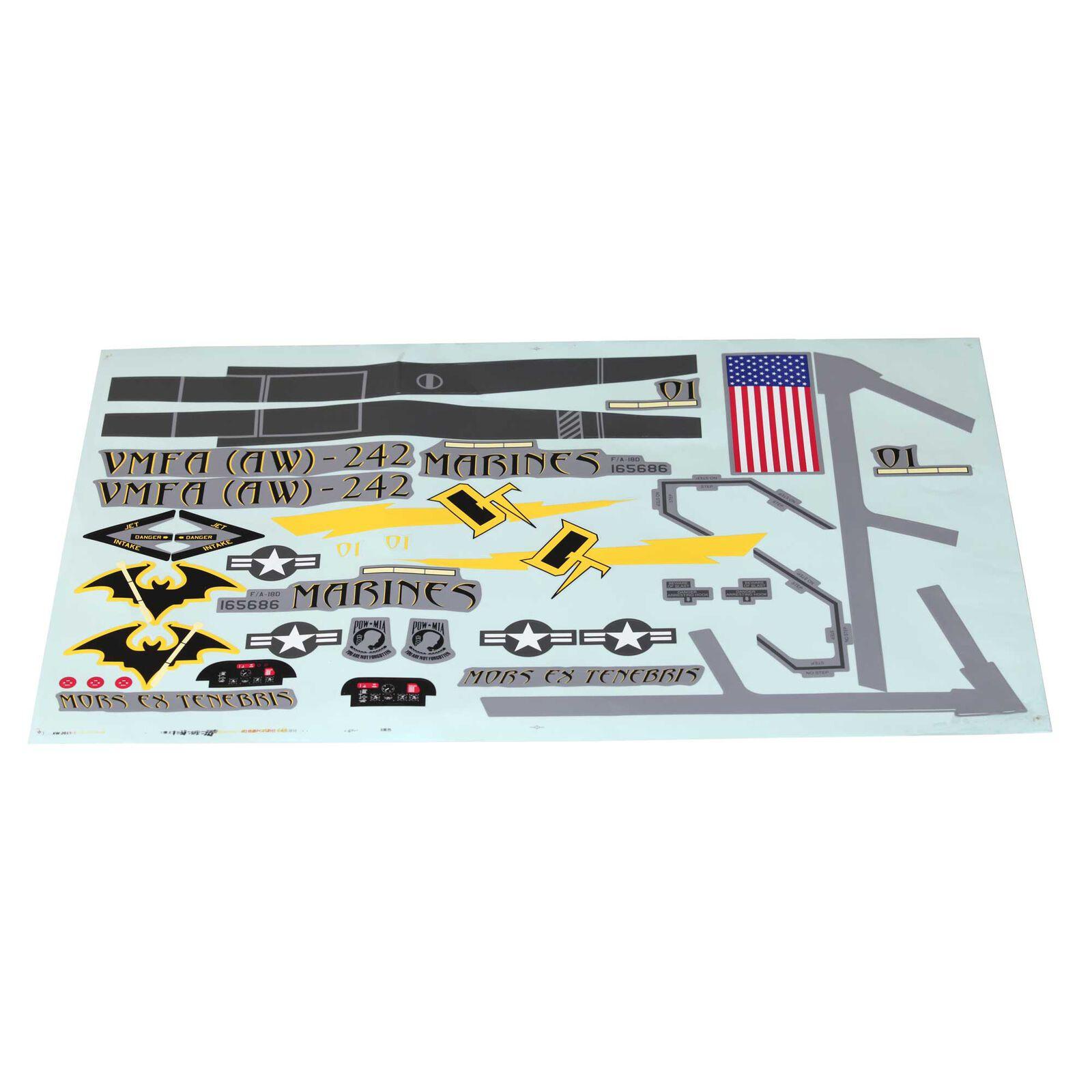 Decal Sheet: F-18 80mm EDF