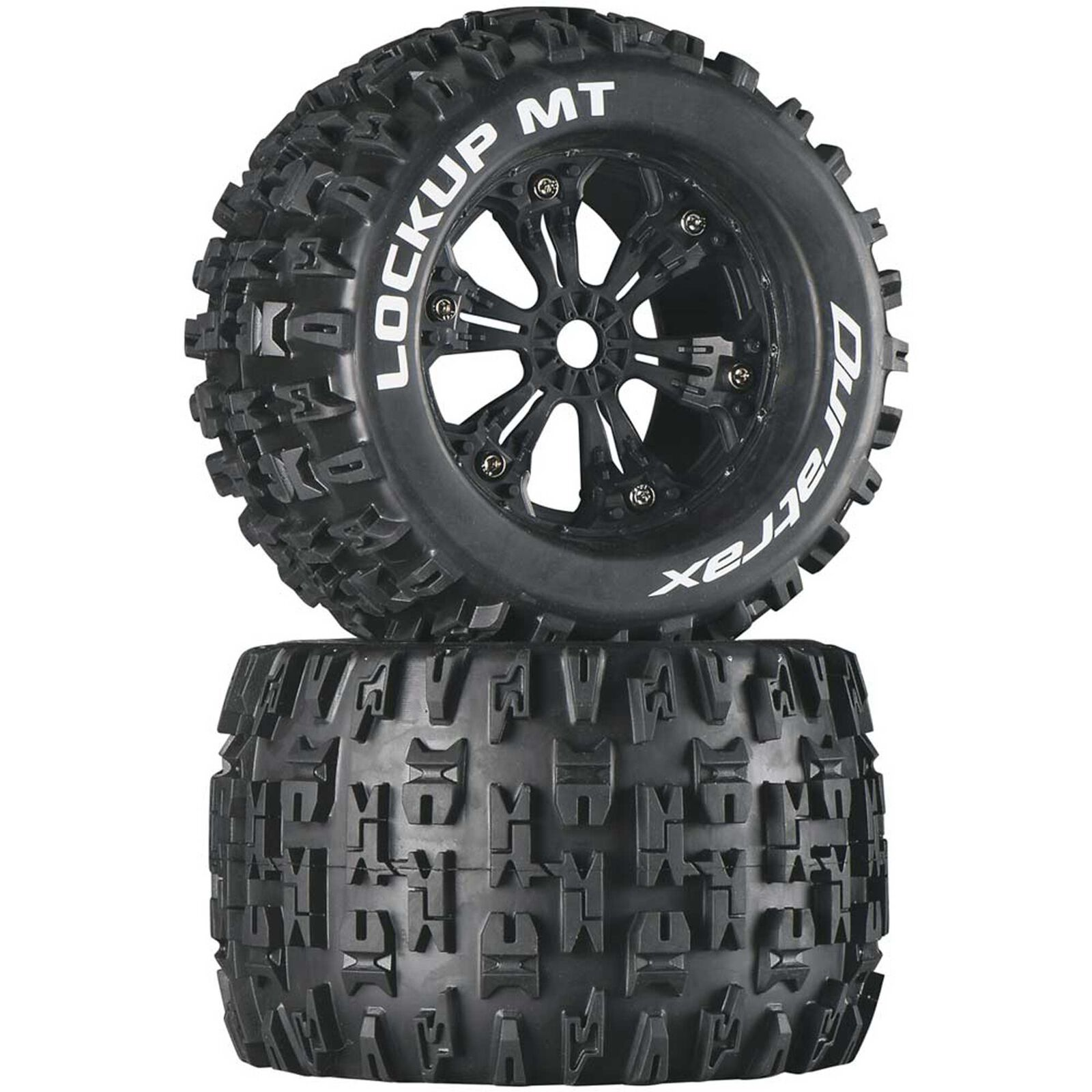 "Lockup MT 3.8"" Mounted Tires, Black (2)"