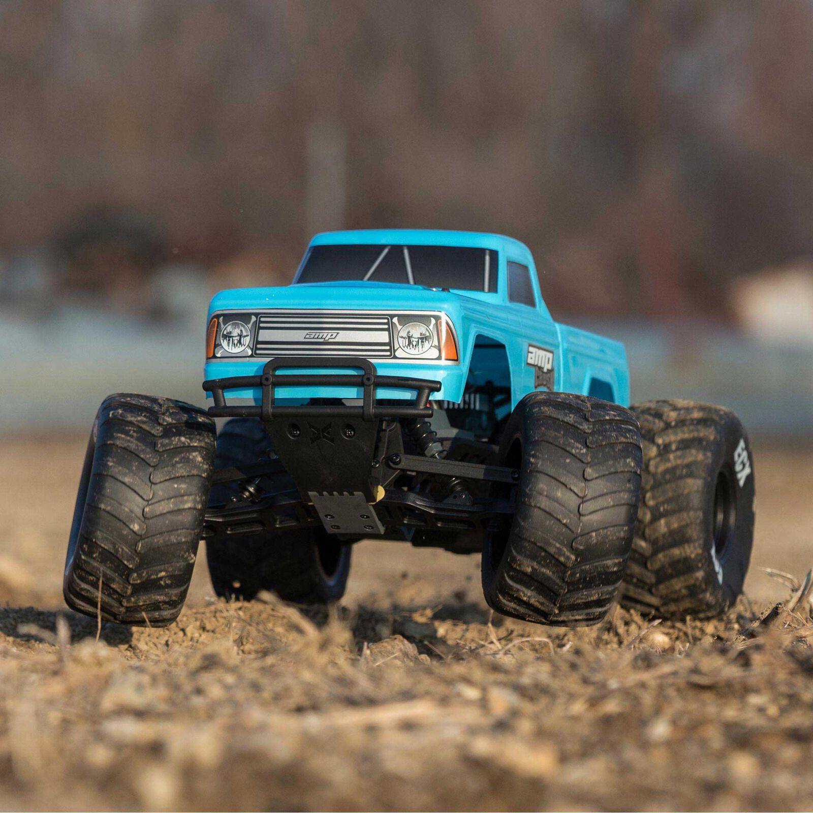 1/10 Amp Crush 2WD Monster Truck Brushed RTR International, Blue