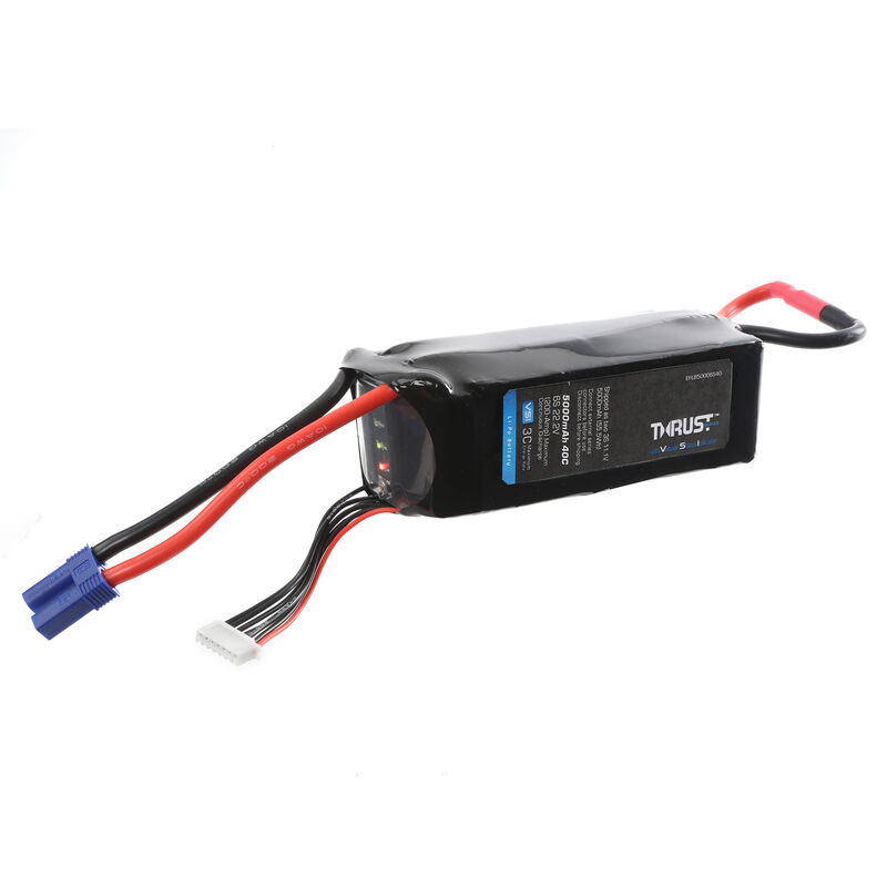 22.2V 5000mAh 6S 40C Thrust VSI LiPo Battery: EC5