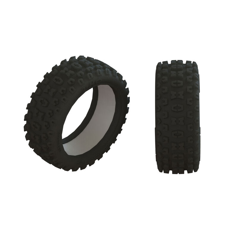 1/8 2HO Front/Rear 3.2 Tire with Inserts (2)