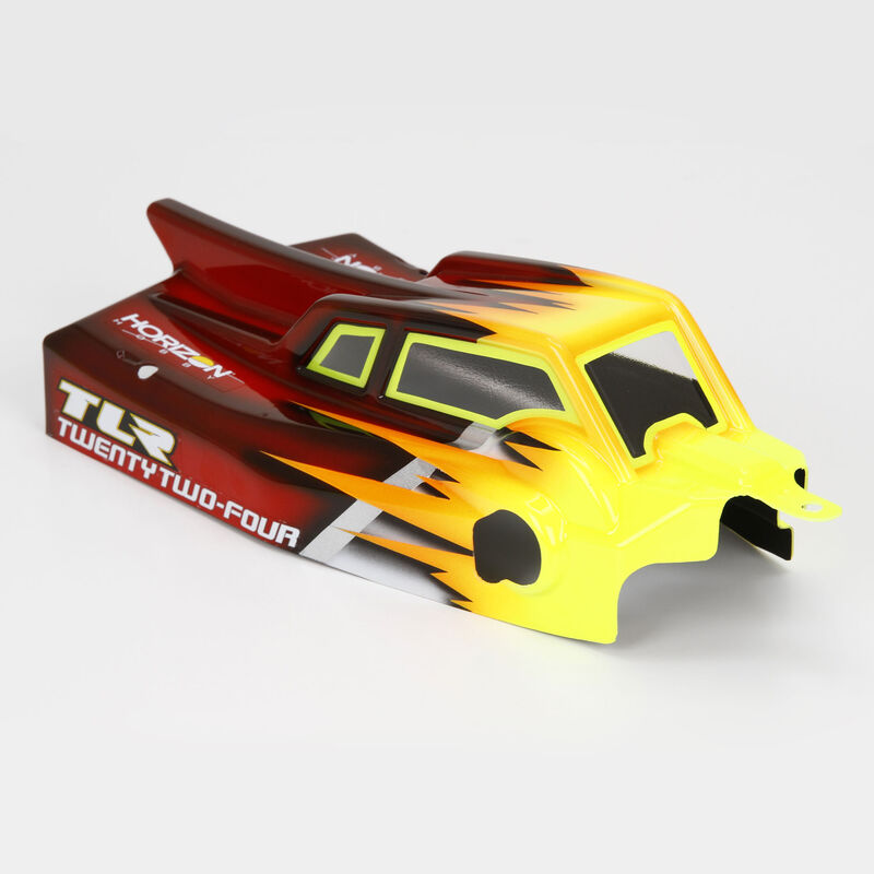 1/10 Cab FWD Clear Body & Wing Set with Stickers: 22-4