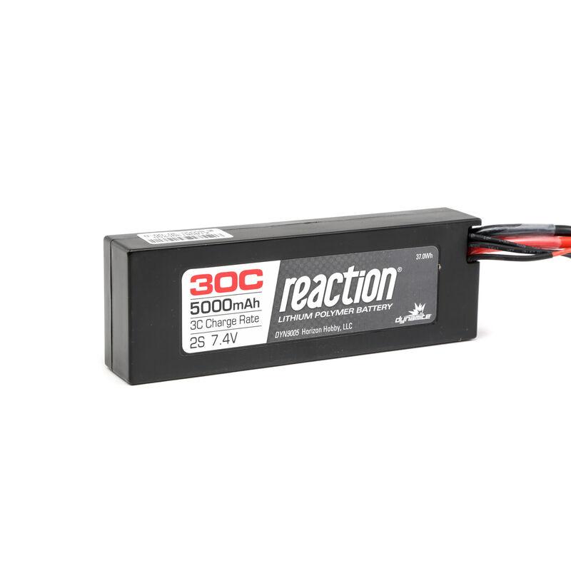 7.4V 5000mAh 2S 30C Reaction Hardcase LiPo Battery: EC3