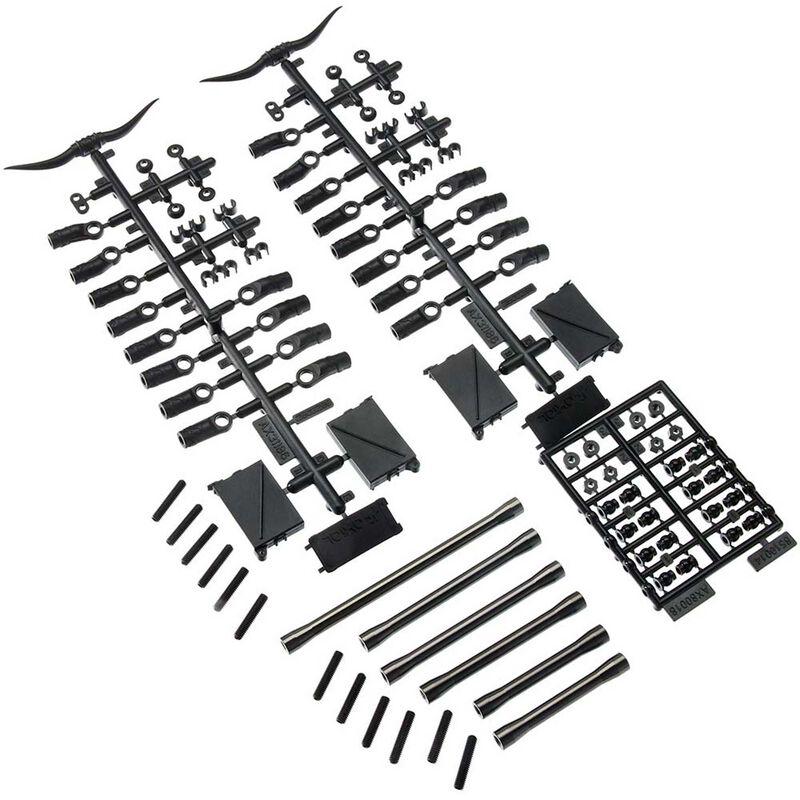 Front Link Set Aluminum: SCX10 II