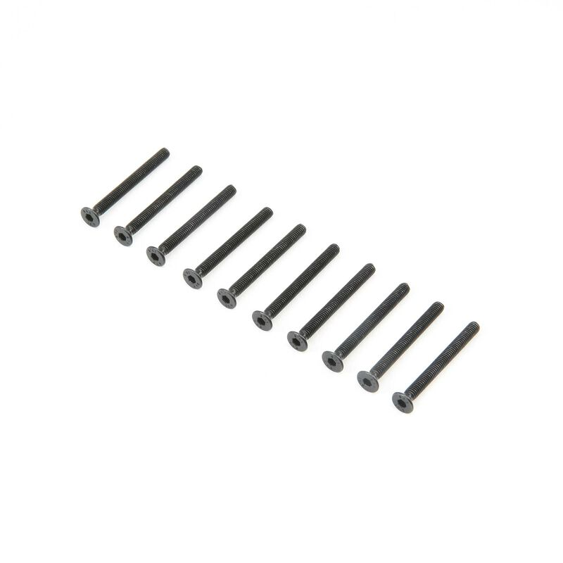 Flat Head Screws M3 x 30mm (10)