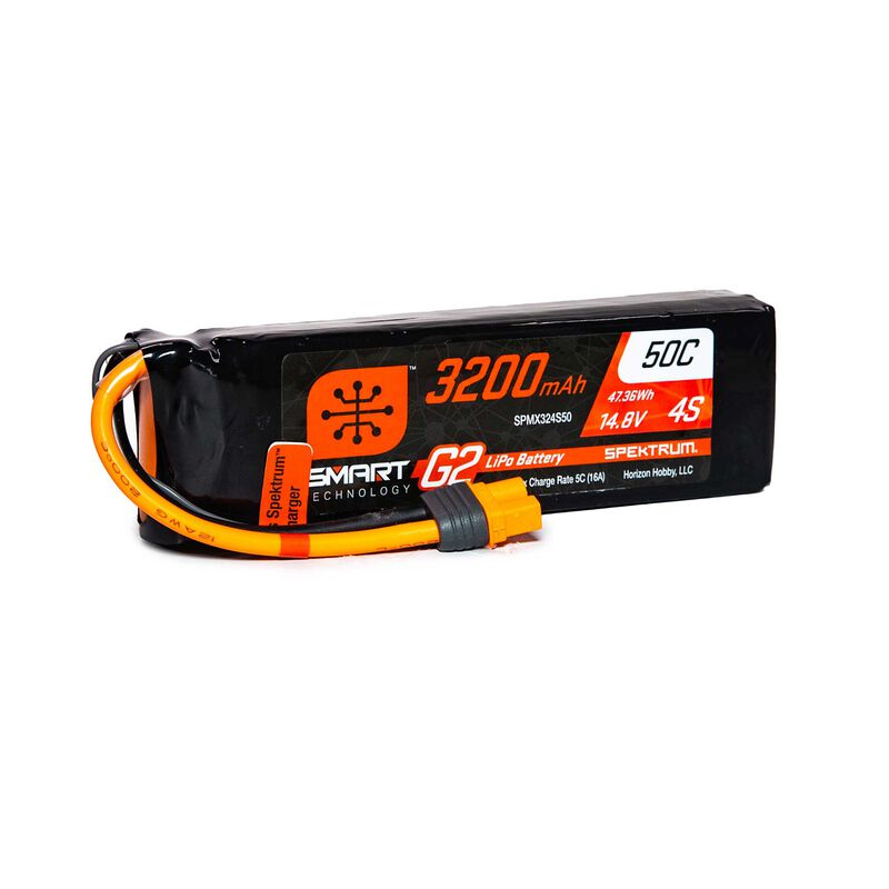 14.8V 3200mAh 4S 50C Smart LiPo G2: IC3