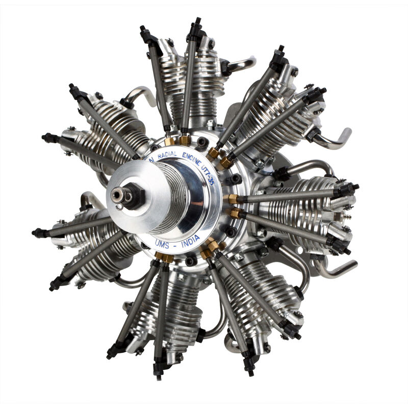 7-Cylinder 35cc 4-Stroke Glow Radial Engine