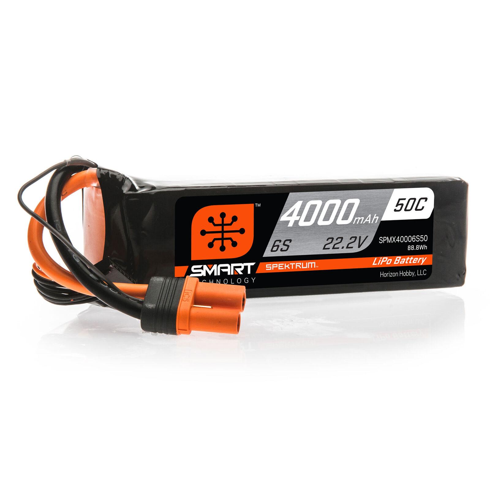 22.2V 4000mAh 6S 50C Smart LiPo Battery: IC5