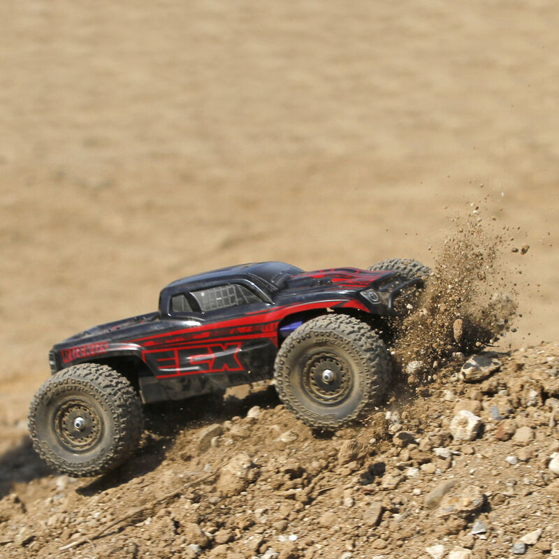 1/18 Ruckus 4WD Monster Truck RTR, Black/Red INT