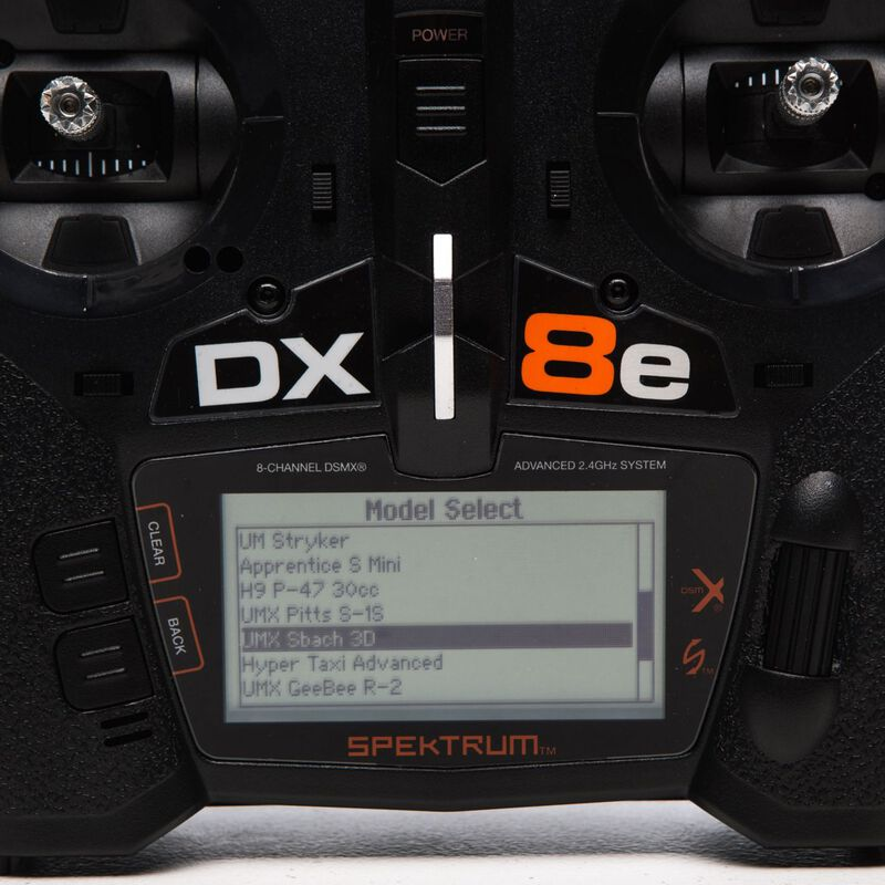 DX8e 8 Channel Transmitter Only Intl