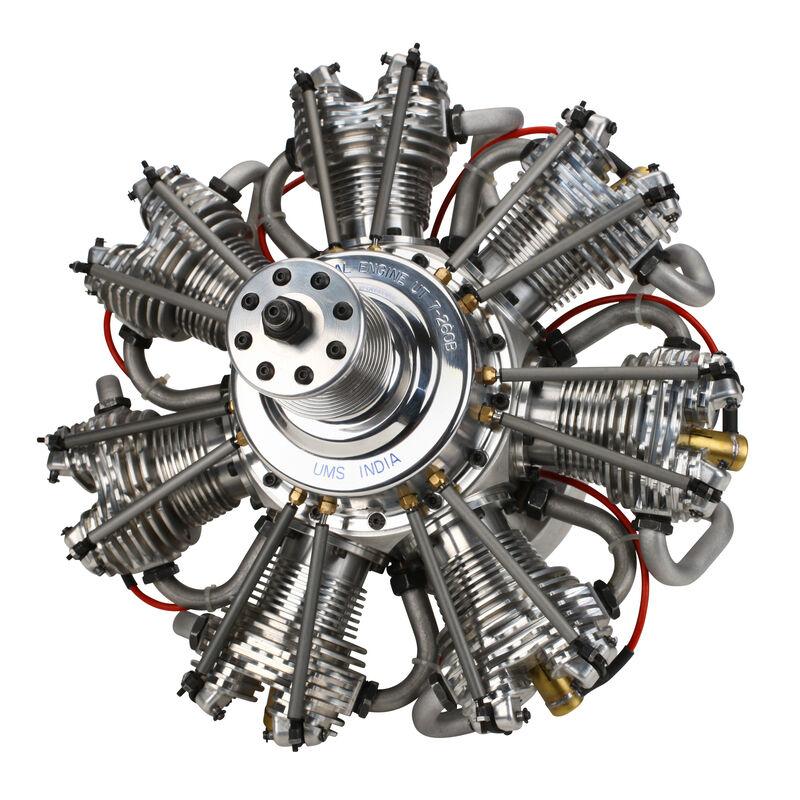 7-Cylinder 260cc 4-Stroke Gas Radial Engine