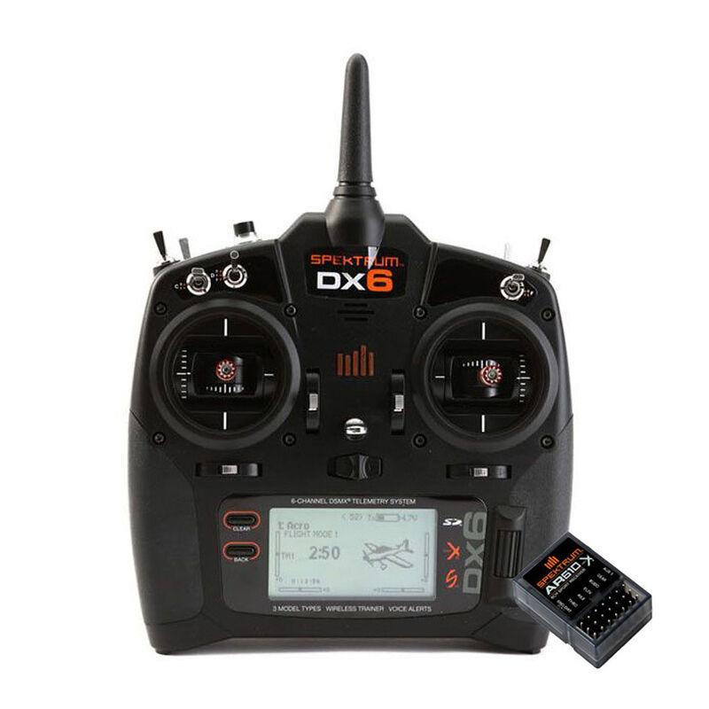 DX6 6-Channel Transmitter, Mode 2 EU + AR610