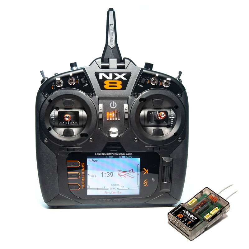 NX8 8-Channel DSMX Transmitter with AR8020T Telemetry Receiver, Intl.
