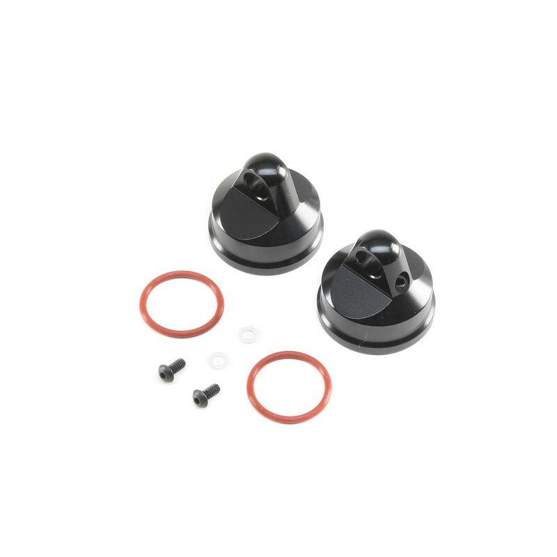 Shock Cap, Aluminum, Black (2): LST/2, LST 3XL-E