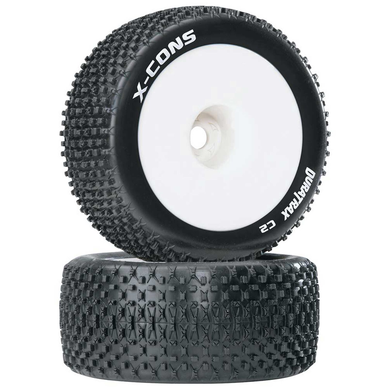 """X-Cons 1/8 Mounted 1/2"""" Offset C2 Truggy Tires (2)"""