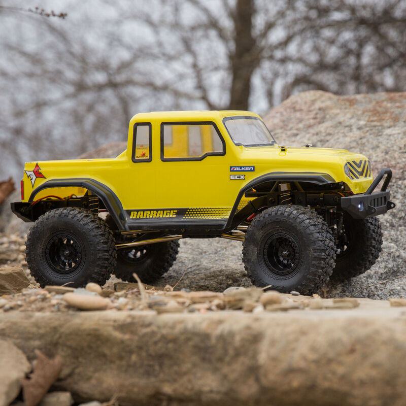 1/12 Barrage Gen2 1.55 4WD Scaler Brushed RTR: Yellow