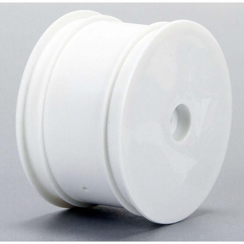 1/14 Front/Rear 2.0 Wheel Set, 12mm Hex, White (4): Mini 8T