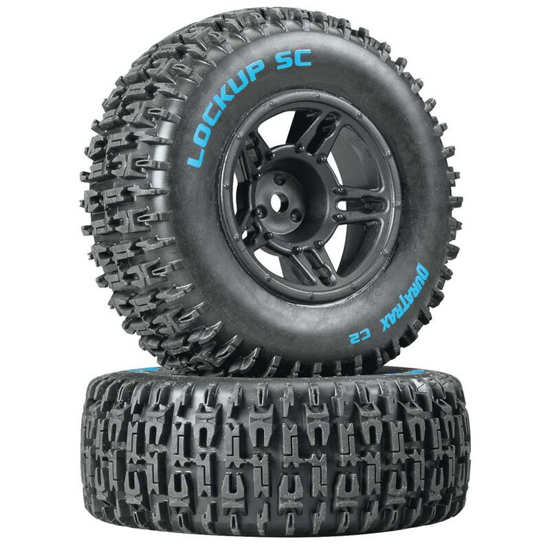 Lockup SC Tire C2 Mounted Black Front: Slash(2)