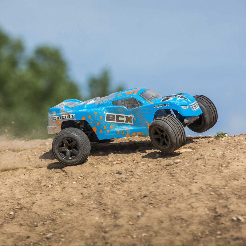 1/10 Circuit 2WD Stadium Truck Brushed with LiPo RTR, Blue/Orange, INT