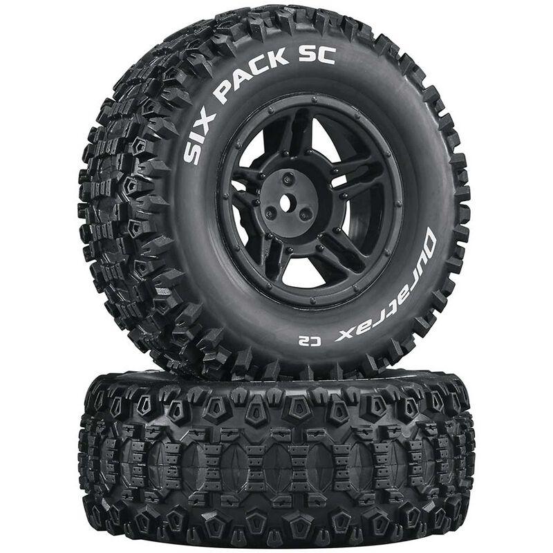 Six-Pack SC C2 Mounted Tires: Slash 4x4 Blitz Front Rear (2)