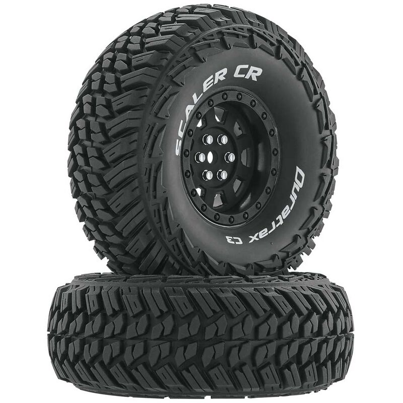 "Scaler CR C3 Mounted 1.9"" Crawler Tires, Black (2)"