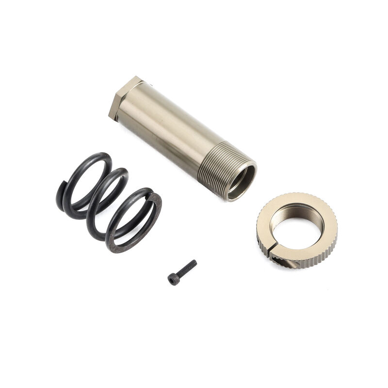 Servo Saver Tube Spring and Adjuster: 5IVE B, 5T, MINI WRC