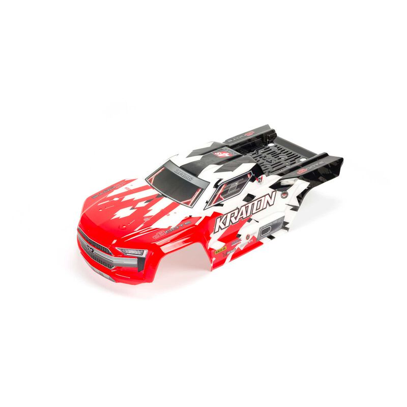 Kraton 4x4 BLX Painted Trimmed Body with Decals, Red