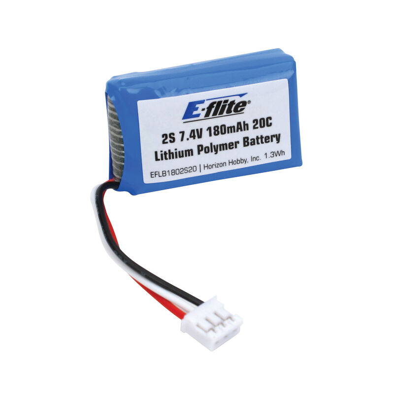 7.4V 180mAh 2S 20C LiPo Battery: PH