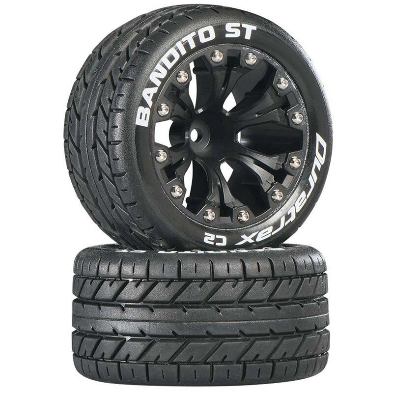 "Bandito ST 2.8 Mounted 1/2"" Offset C2 Tires, Black (2)"