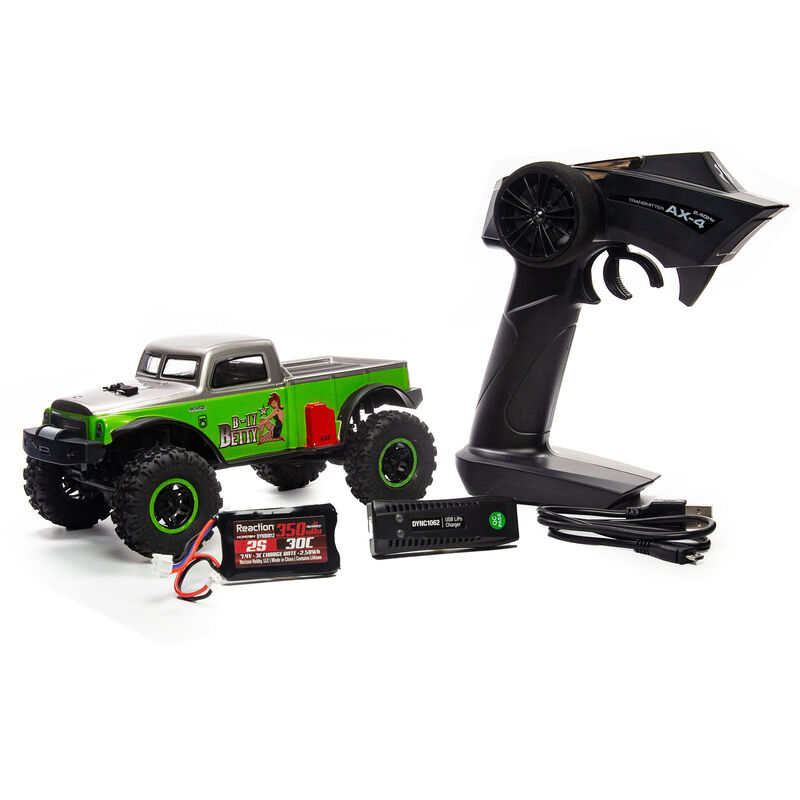 1/24 SCX24 B-17 Betty Limited Edition 4WD RTR, Green
