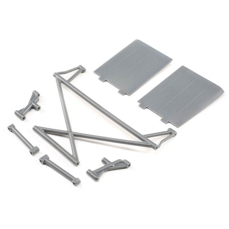 Rear Tower Support, X-Bar, Mud Guards, Gray: Rock Rey